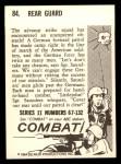 1964 Donruss Combat #84   Rear Guard Back Thumbnail