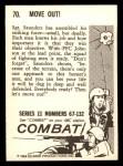 1964 Donruss Combat #70   Move Out Back Thumbnail