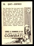 1964 Donruss Combat #90   Quiet--Sentries Back Thumbnail