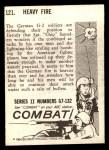 1964 Donruss Combat #121   Heavy Fire Back Thumbnail
