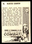 1964 Donruss Combat #78   Blasted Country Back Thumbnail