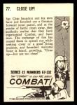 1964 Donruss Combat #77   Close Up Back Thumbnail