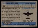 1957 Topps Planes #35 BLU  M-4 Horse Back Thumbnail