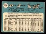 1965 Topps #579  Dick Smith  Back Thumbnail