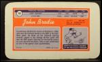 1970 Topps Super #18  John Brodie     Back Thumbnail