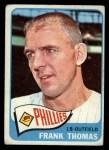 1965 Topps #123  Frank Thomas  Front Thumbnail