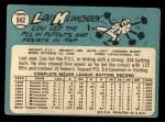 1965 Topps #542  Lou Klimchock  Back Thumbnail