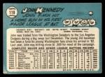 1965 Topps #119  John Kennedy  Back Thumbnail
