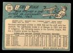 1965 Topps #240  Bob Bruce  Back Thumbnail