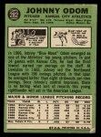 1967 Topps #282  Blue Moon Odom  Back Thumbnail