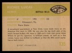 1961 Fleer #135  Richie Lucas  Back Thumbnail