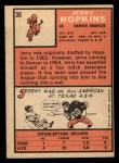 1966 Topps #36  Jerry Hopkins  Back Thumbnail
