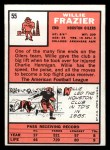 1966 Topps #55  Willie Frazier  Back Thumbnail
