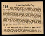 1938 Gum Inc. Horrors of War #176   Trapped Japs Fed By Plane Back Thumbnail