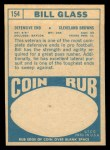 1968 Topps #154  Bill Glass  Back Thumbnail