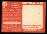 1958 Topps #43  Jim Doran  Back Thumbnail