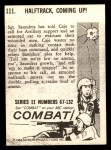1964 Donruss Combat #111   Halftrack Coming Up Back Thumbnail
