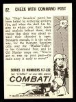 1964 Donruss Combat #82   Check with Command Post Back Thumbnail