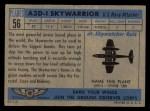 1957 Topps Planes #56 BLU  A3d-1 Skywarrior Back Thumbnail
