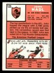 1966 Topps #125  John Hadl  Back Thumbnail