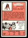 1966 Topps #3  Nick Buoniconti  Back Thumbnail
