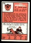 1966 Topps #116  Art Powell  Back Thumbnail