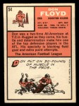 1966 Topps #54  Don Floyd  Back Thumbnail