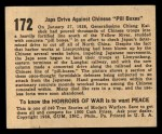1938 Gum Inc. Horrors of War #172   Japs Drive Against Chinese Pill Boxes Back Thumbnail