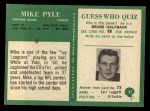 1966 Philadelphia #37  Mike Pyle  Back Thumbnail