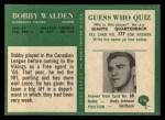 1966 Philadelphia #116  Bobby Walden  Back Thumbnail