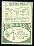 1968 Topps #39  Howard Twilley  Back Thumbnail