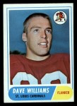 1968 Topps #218  Dave Williams  Front Thumbnail