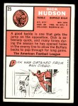 1966 Topps #25  Dick Hudson  Back Thumbnail