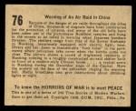 1938 Gum Inc. Horrors of War #76   Warning of an Air Raid in China Back Thumbnail