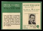 1966 Philadelphia #55  Frank Clarke  Back Thumbnail