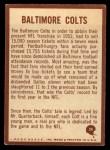 1967 Philadelphia #24   Baltimore Colts Logo Back Thumbnail