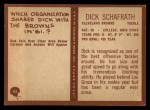 1967 Philadelphia #45  Dick Schafrath  Back Thumbnail