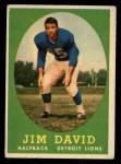 1958 Topps #13  Jim David  Front Thumbnail