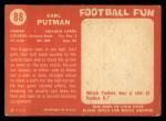 1958 Topps #88  Earl Putman  Back Thumbnail