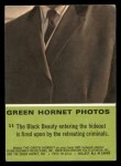 1966 Donruss Green Hornet #11   Black Beauty being fired upon Back Thumbnail