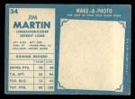 1961 Topps #34  Jim Martin  Back Thumbnail