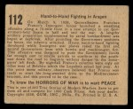 1938 Gum Inc. Horrors of War #112   Hand-to-Hand Fighting in Aragon Back Thumbnail