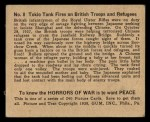 1938 Gum Inc. Horrors of War #8   Tokio Tank Fires on British Troops and Refugees Back Thumbnail