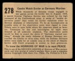 1938 Gum Inc. Horrors of War #278   Czechs Watch Border as Germany Marches Back Thumbnail