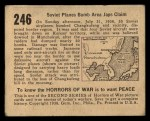 1938 Gum Inc. Horrors of War #246   Soviet Planes Bomb Area Japs Claim Back Thumbnail