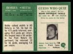 1966 Philadelphia #73  Bob Smith  Back Thumbnail