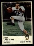 1961 Fleer #189  Jack Larsheid  Front Thumbnail