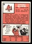 1966 Topps #56  Freddy Glick  Back Thumbnail