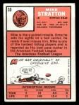 1966 Topps #30  Mike Stratton  Back Thumbnail