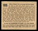 1938 Gum Inc. Horrors of War #185   Moors Attack City to Avenge Ancient Defeat Back Thumbnail